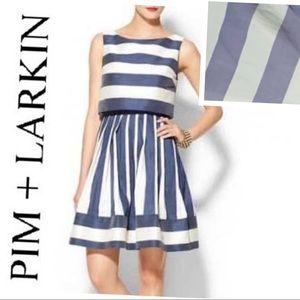 PIM + LARKIN Stripes Sleeveless Fit & Flare DRESS